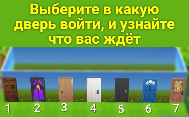 Выберите в какую дверь войти, и узнайте что вас ждёт