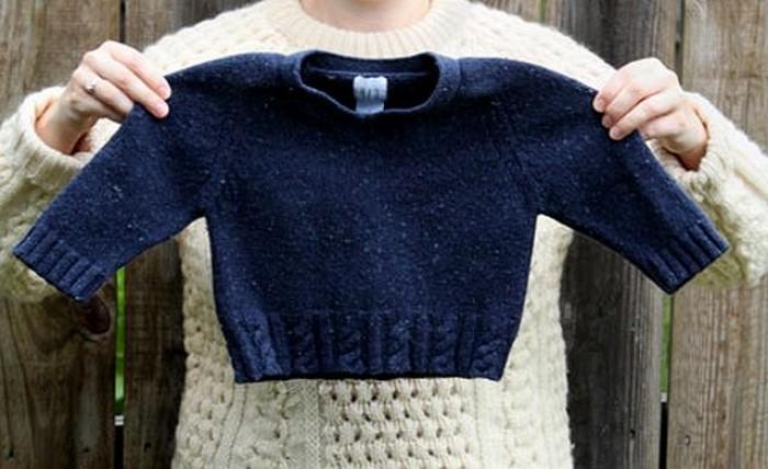 Как вернуть «севшему» свитеру первоначальный размер быстро и просто