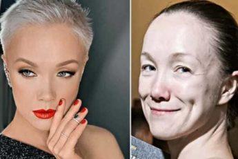 С макияжем они просто ослепительны. Но без красок лицо «стирается»