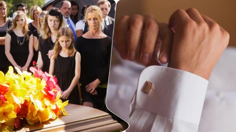 На похоронах мужа жена заметила нечто необычное и остановила церемонию
